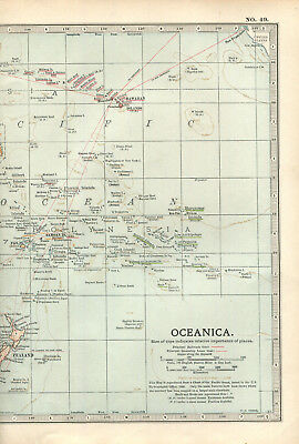 Colour map culled from a 1903 atlas OCEANICA