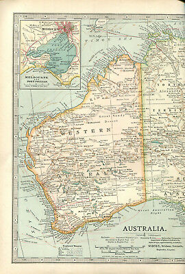 Colour map culled from a 1903 atlas AUSTRALIA .