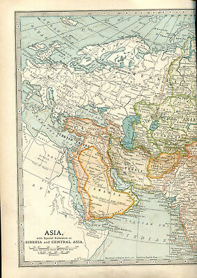 Colour map culled from a 1903 atlas ASIA