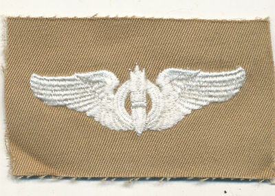 US Army Air Corps Bombardier wings patch khaki cloth real WWII make USAAF