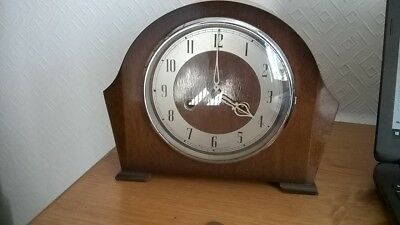 Large Vintage Smiths Mantle Clock With Key. Art Deco Style. Charity Sale