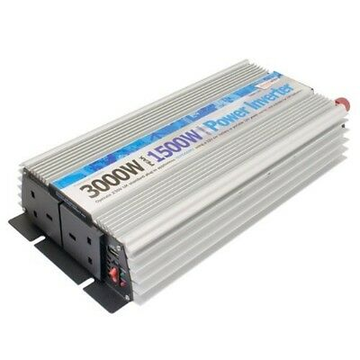 Streetwize Swinv1500 Power Inverter With Twin Usb, 1500 W/ 3000 W - Watt Peak