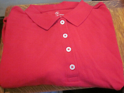 140ddeae LANDS END LADIES Polo Golf Shirt - Hot Pink 100% Cotton - New in Pkg ...