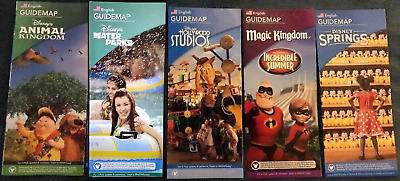 NEW 2018 Walt Disney World Theme Park Guide Maps 5 Brochures & Pirates Map CPICS
