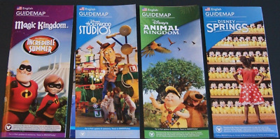 NEW 2018 Walt Disney World Theme Park Guide Maps Brochures 4 Different Ones!!!
