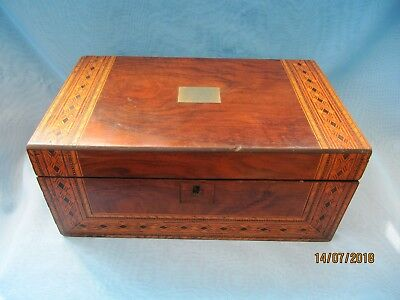 Antique Victorian ~ Inlaid  Writing Slope Box