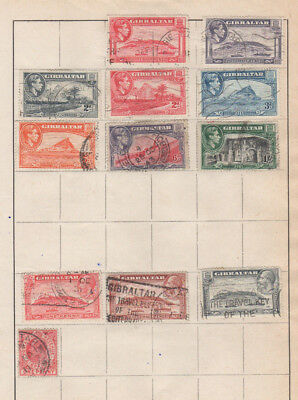 A very nice old Gibraltar George V & VI page to 1 Shilling