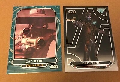 CAD BANE Topps Star Wars trading card lot of 2 different