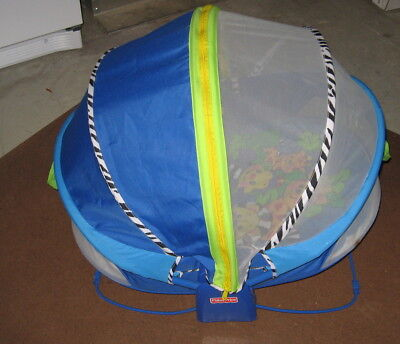 Fisher-Price BOUNCE N PLAY Activity Dome Enclosed Portable Outdoor Bassinet