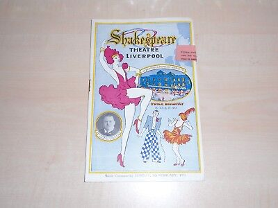 1931 Liverpool Shakespeare Theatre Programme With Varieties Bill+Local Adverts