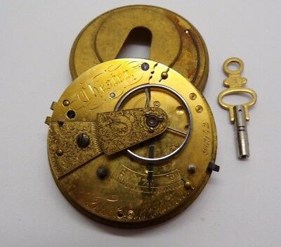 ANTIQUE FUSEE MOVEMENT THOMAS MORELAND COMPLETE for spares
