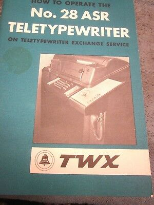 "1962 Western Electric/Bell System ""No. 28 ASR Teletypewriter (TWX)"" How to USE."