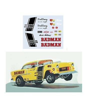 Baltimore Bandit Cuda Drag car 1//64 scale decal fits AFX Tyco Lifelike Autoworld