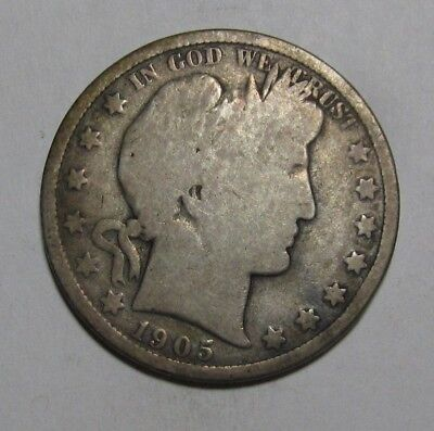 1905 O Barber Half Dollar - Good Condition - 223SA