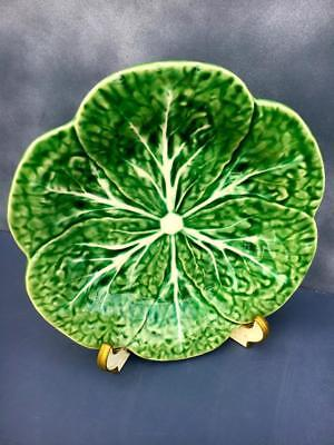 """BORDALLO PINHEIRO Luncheon Plate 9 1/4 """" Cabbage Green MADE IN PORTUGAL~MINT.."""