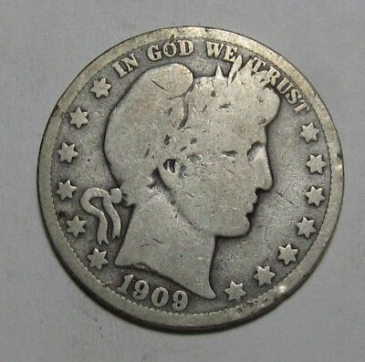 1909 O Barber Half Dollar - Very Good Condition - 238SA