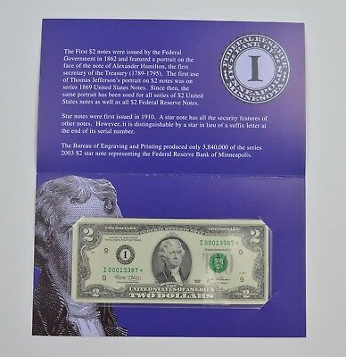Series Federal Reserve Bank of Minneapolis $2 Star Note *075