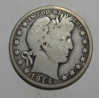1914 Barber Half Dollar - Very Good + Condition - 251SA