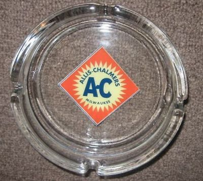Large Glass ALLIS CHALMERS Milwaukee Ashtray