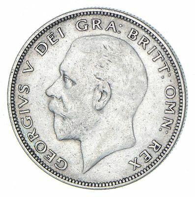 Roughly Half Dollar Size 1936 Great Britain Half Crown - Silver Coin 14.0g *488