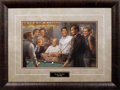 """Andy Thomas Callin The Blue Framed Size 18.5/"""" x 24.5/"""" Signed by Artist"""