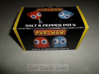 Unused Pacman Ghost Salt Pepper Pots - FAST SHIPPING!  616