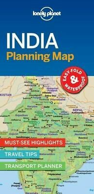 NEW India Planning Map By Lonely Planet Travel Guide Folded Sheet Map