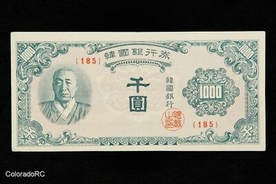 Bank of Korea 1000 Won Paper Currency Note in VF Condition