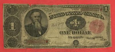 """1891 $1 US TREASURY NOTE """"LARGE SIZE"""" Currency Rough! Old US Paper Money"""