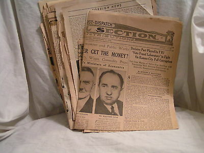 One  Large Lot Of W W 2 Newspaper Clippings