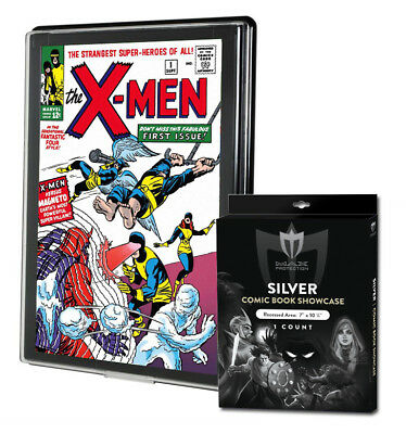 7 Silver Comic Showcase Premium Display Case Wall Mount Frames Max Pro