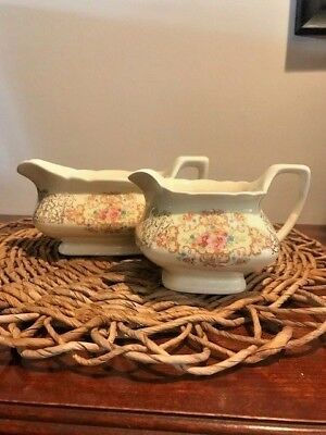 Lido W.S. George CANARYTONE Gravy Boat and Creamer - Vintage Dishes