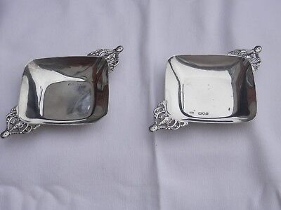 Victorian Solid Silver Pin Dishes London 1899 Henry Straford
