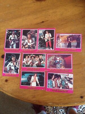 BAY CITY ROLLERS - x 9 CARDS TOPPS 1978