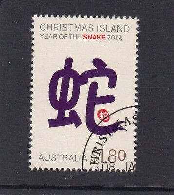 CHRISTMAS ISLAND 2013 Year of the SNAKE $1.80 higher value  VFU,CTO...CI PM.