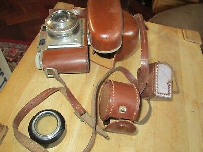 Agfa Super Silette. Synchro - Compur. 35Mm Camera In Leather Carry Case. Used.