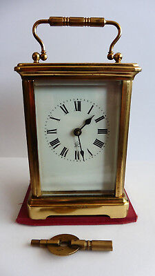 Japy Freres Antique Carriage Clock, Cased, Medium Size, Serviced 2014,
