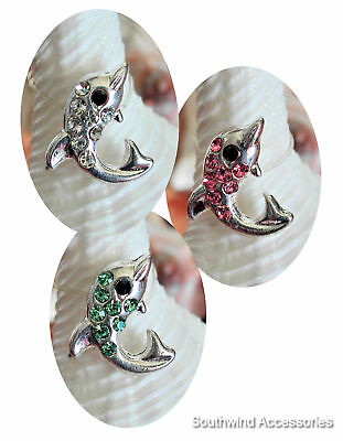 Dolphin Toe Ring On A Stretch Illusion Band Your Choice In Color Of Crystals