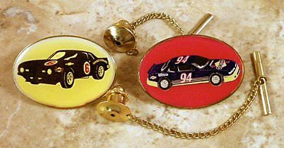 Two Different NASCAR - Sunoco Tie Tack Pins and Chain Clasps