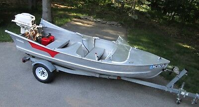1959 Antique Aluminum Boat Meyers Tail Fins Runabout 1959 Johnson Outboard Motor