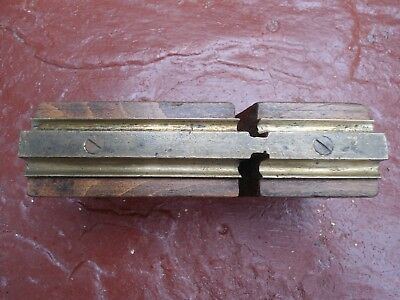 Vintage Unusual Double Brass Profile Wooden Plane For Restoration