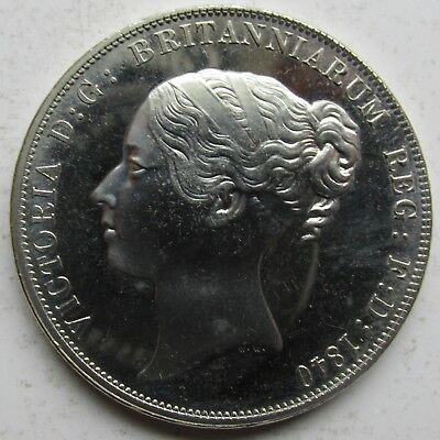 Great Britain, Wales Queen Victoria Young Head Fantasy 5 Shillings Crown/Medal