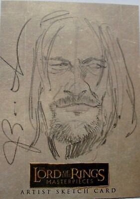 Lord of the Rings LOTR Masterpieces Boromir sketch by Joseph Booth