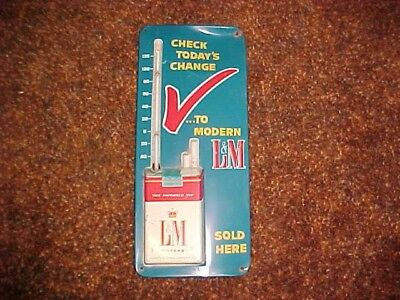 L & M Cigarettes Advertising Thermometer