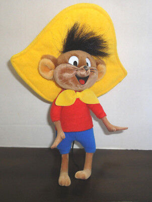 "Speedy Gonzales, 9.5"" Cloth Figure, Excellent, Warner Bros 1994 Tyco Toys France"