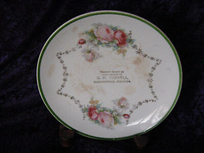 Antique Blanchardville, WI Advertising Plate G. M. Ingwell