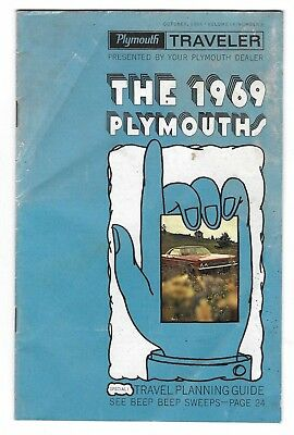 1969 Plymouth Traveler  Brochure Comp. Johnson Motor Sales Lenoxville Pa.