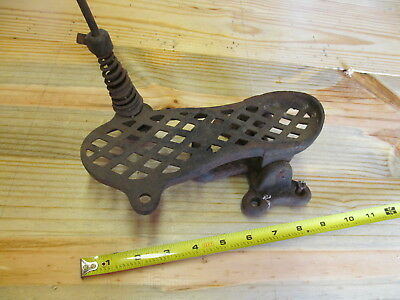 Antique Cast Iron Foot Treadle Pedal – Altered Art– For Dentist Drill or Sewing