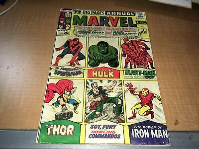 1964 Marvel Tales 72 Page Annual Comic Book #1 Spidey Hulk Thor Iron Man  0fg1