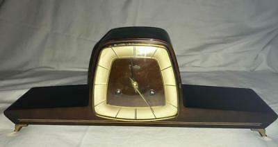 Franze Hermel Zentra Art Deco Striking Mantle Clock,good Working Order,with Key.